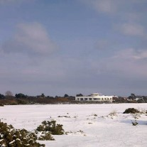 EH46-10: Hayling, Clubhouse from 3rd Tee