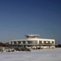 EH45-08: Hayling, Clubhouse from the 18th Hole