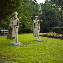 FPY-07-10: Pilgrim Statues, Navarrenx, Pyrenees