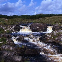 IRG-107-08: Waterfall near Maam Cross, Connemara