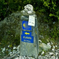 SN-02-02: Sign, Via Turonensis, nr Zubiri, Navarra, Spain